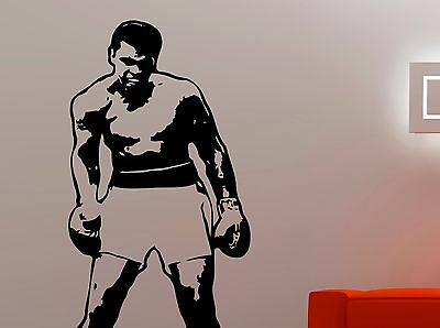 Wall Art sticker transfer bedroom,lounge boxer, boxing sports muhammad ali