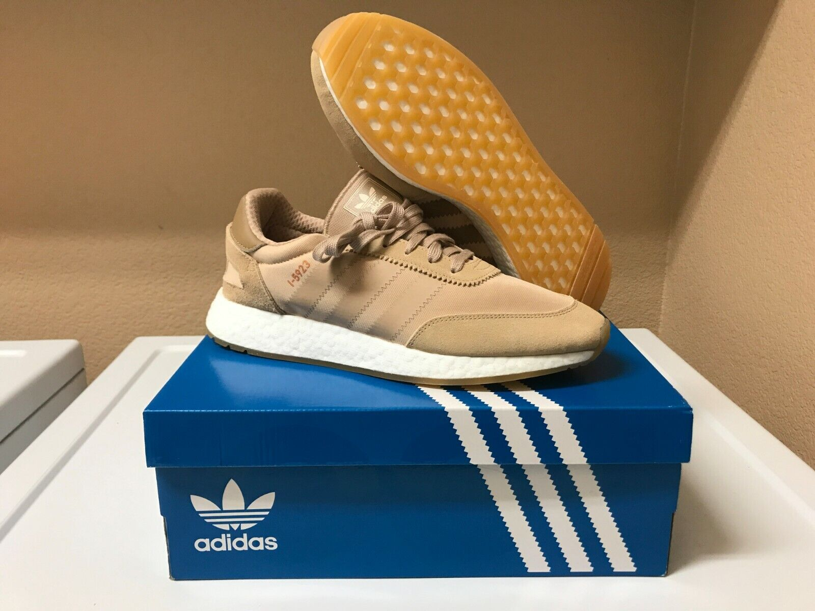 newest collection b679b 6f58b Adidas I-5923 Runner Sneakersnstuff Pale Nude Gum Boost Men s 10