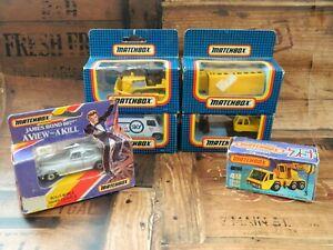 Paquete-Matchbox-construccion-autobus-escolar-James-Bond-vintage-retro-Rolls-Royce