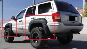JEEP-GRAND-CHEROKEE-WJ-1999-2004-WHEEL-ARCH-FENDER-FLARES-NEW-10-pcs