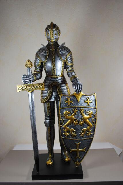 Ritter mit Schwert Groß Mittelalter Rüstung Figur
