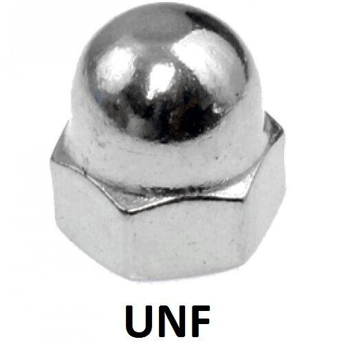 "Qty 400 Dome Nut 38"" UNF Imperial Stainless Steel 1 Piece Acorn 304 A2 70 SS"