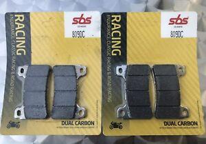 2x Sbs 809 Dc Racing Plaquettes De Frein Honda Cbr 1000 Rr, Sc57, Sc59, Dual Carbone Neuf-afficher Le Titre D'origine