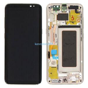 Pantalla-Completa-Lcd-Tactil-Marco-Para-Samsung-Galaxy-S8-Plus-SM-G955F-Oro-New