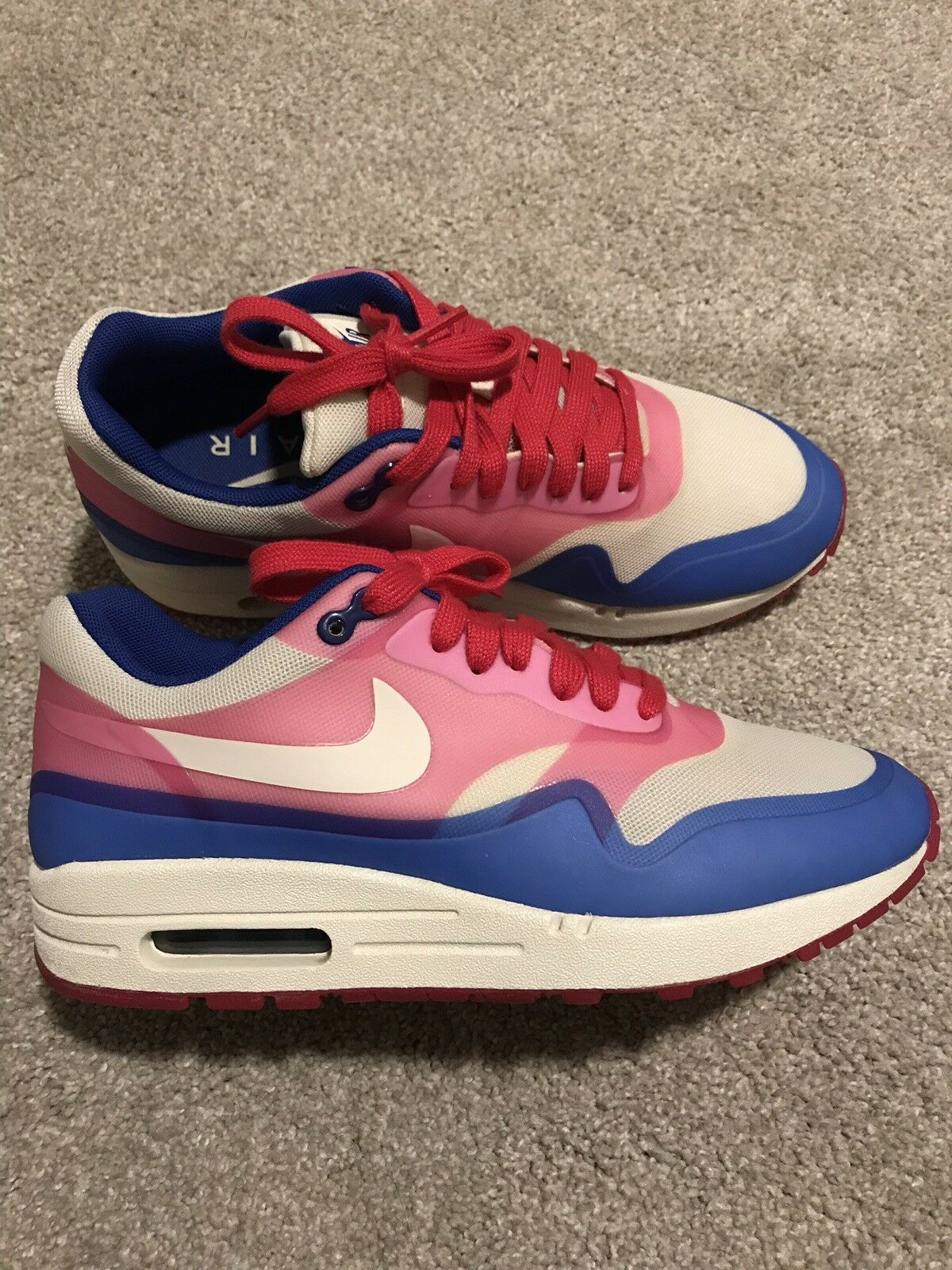 Nike Air Max 1 Hyperfuse Premium Sail Pink bluee Women's Size 7.