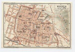 1927 ORIGINAL VINTAGE CITY MAP OF BRESCIA LOMBARDY ITALY eBay