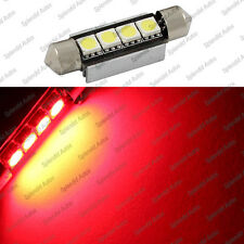 Brilliant Red 42mm 4-SMD Error Free 578 211-2 6411 LED Dome Light (1 Piece)