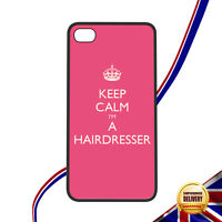 Keep Calm I'm A Hairdresser Apple iPhone 4 4S Mobile Phone Novelty Case Rubber
