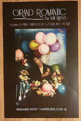 Music Poster Promo Nate Ruess ~ Grand Romantic DS Double Sided