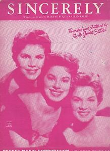 Mcguire-Sisters-Sincerely-US-Hoja-Musica