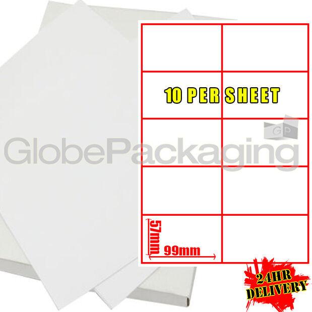 Des feuille feuilles de 2000 étiquettes d'adresse 10 par feuille Des 99 x 57mm 98cffa