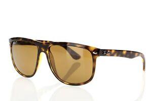 Ray-Ban-Men-039-s-RB4147-Polarized-167834-Square-Sunglasses-Tortoise-Brown-Lens-60