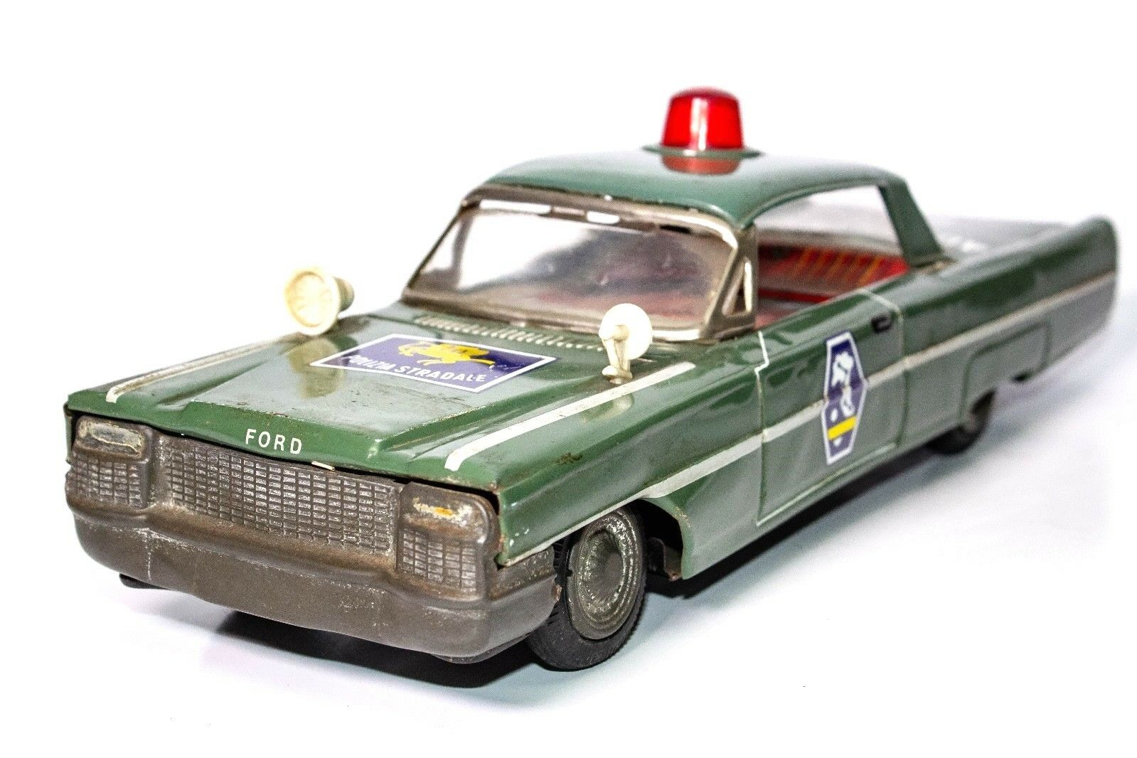 VINTAGE JAPANESE TIN FRICTION FORD 2-DOOR COUPE COUPE COUPE ITALIAN POLICE CAR 85aaf1