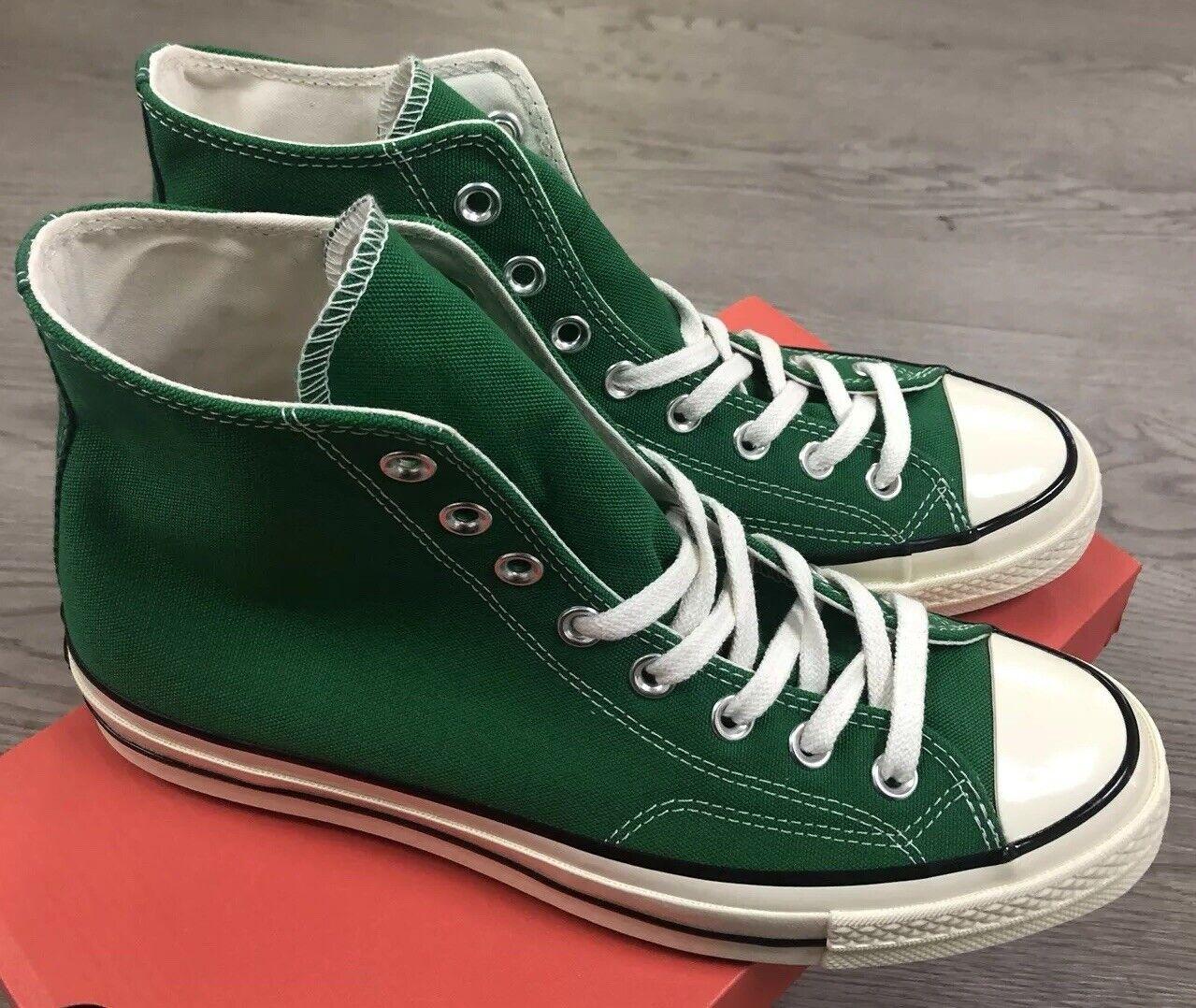 Converse Chuck 70 Hi verde Negro Garza Talla Hombre 9.5 Nuevo en Caja 161441c