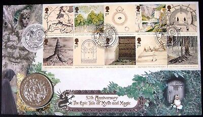 ISLE OF MAN LORD OF THE RINGS STAMPS PNC 2003 UK FDC CUPRO NICKEL COIN MAGIC