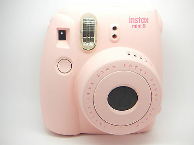 Fujifilm Instax Mini 8 Camera & Case Combo Pink By Royal Mail 24 L43