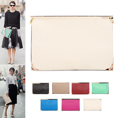 NEW Korea Women Oversized Envelope Purse Clutch Shoulder Bag Purse