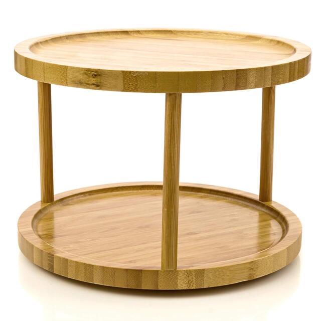Woodworking Plans For Kitchen Spice Rack: JackCubeDesign 360 Rotating Lazy Susan Bamboo Spice Jar