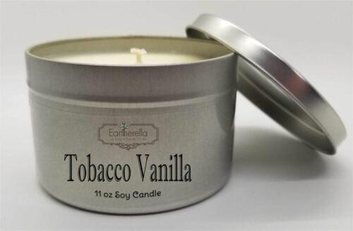 TOBACCO VANILLA Soy Candle  11 oz Tin VEGAN