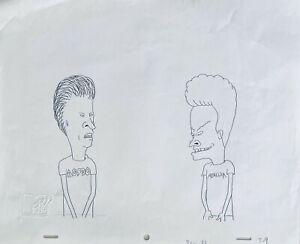 Beavis & Butt-head 1990's Production Cel Pencil Drawing Urinals