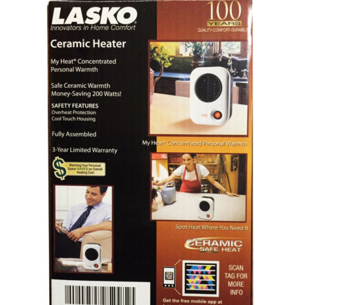 Lasko My Heat Personal Space Heater for Under Desk Table Top Home Office Warmer