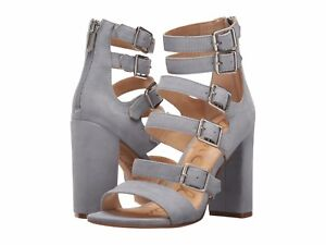 ad1d97ec8004 Image is loading Sam-Edelman-Yasmina-Dusty-Blue-Suede-Leather-Buckle-