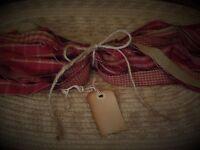 Homespun Fabric Stripsbarn Red Collectioncraftstiesprimitivesbows