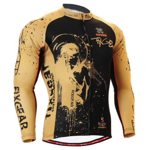 FIXGEAR CS-3201 Men's Long Sleeve Cycling Jersey Bicycle Apparel Roadbike MTB