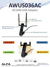Alfa AWUS036AC 802.11ac 867 Mbps Long Range WiFi USB Adapter DUAL BAND 2.4/5 GHz