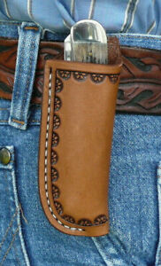 Medium-Leather-Pocket-Knife-Pouch-Sheath-Ruff-s-Saddle-Shop-Border-Tooled-Brown