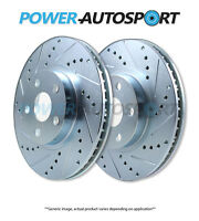 (rear) Power Performance Drilled Slotted Plated Brake Disc Rotors P31536