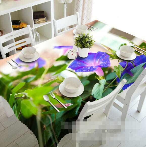 3D Morning Glory Tablecloth Table Cover Cloth Birthday Party Event AJ WALLPAPER