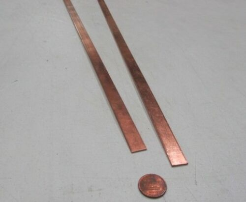 "110 Copper Bar 1//2 Hard 1//16/"" Thick x 1//2/"" Wide x 36 Inch Length 2 Units"