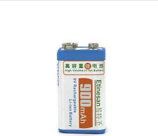 1 pcs / lot 9v SUPER BIG 900mAh li-ion lithium Rechargeable 9 Volt Battery