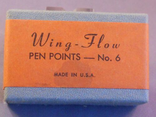 -new old stock Wing-Flo Vintage #6 Gold Plated  Nib