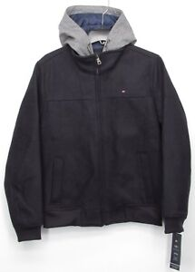 8b4f70d8 Image is loading Tommy-Hilfiger-Technical-Wool-Blend-Bomber-Jacket-with-