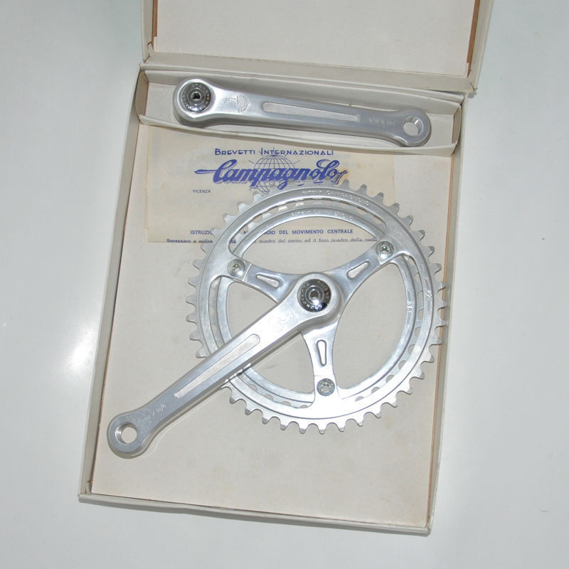 NOS NEW Guarnitura Campagnolo Gran Sport BABY 3 arm Crankset chainrings 150mm