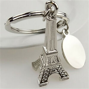 1x-Zinc-Alloy-Eiffel-Tower-French-Souvenir-Paris-Keychain-Keyring-Chain-Ring-YJ