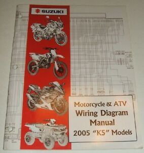 2005 SUZUKI WIRING DIAGRAM MANUAL GSXR GSX DR VS GSF VS ...