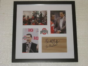 College-ncaa Motivated Kevin Mcguff Signed Floorpiece Framed Ohio State Basketball Coa Always Buy Good