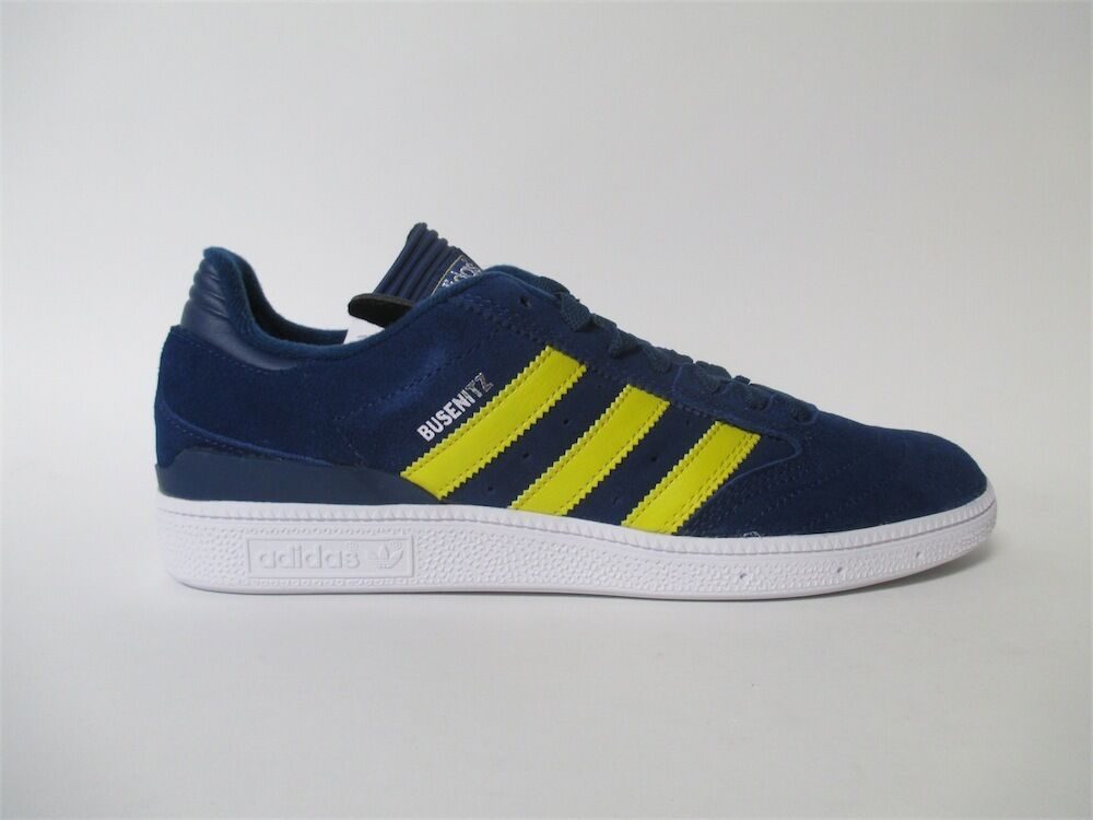 Adidias Busenitz Navy Blue Yellow White Michigan Sz 10 D68825