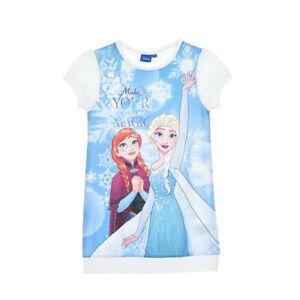 DISNEY-robe-LA-REINE-DES-NEIGES-3-4-5-ou-6-ans-bleu-blanc-imprime-NEUVE
