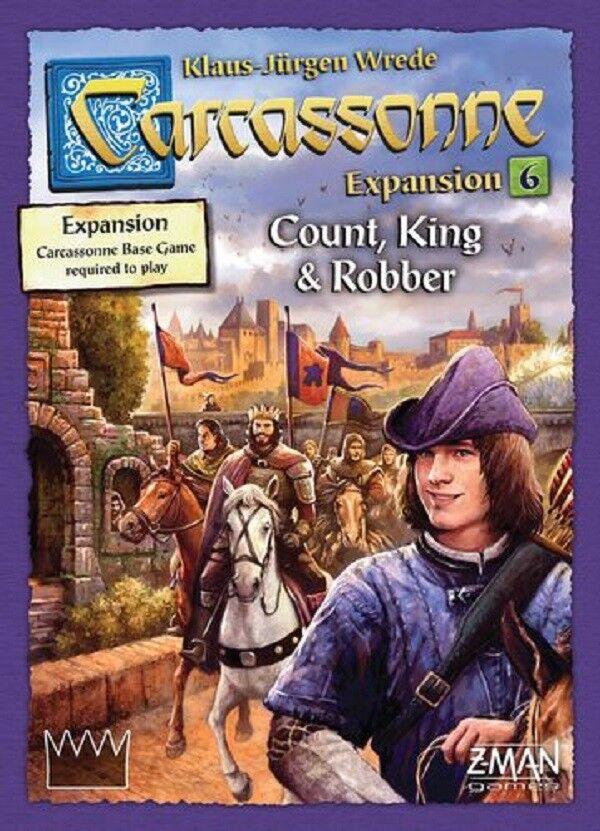 Z-Man Games  Carcassonne  Expansion 6 - Robber Count, King & Robber - expansion (New) 7634af