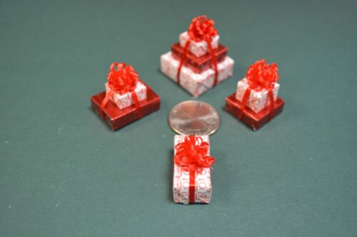 a triple Red Joy 2 doubles and a single Miniature Christmas Presents