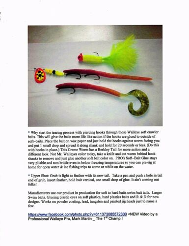 Fly Tyers ~ Glue PRO/'s Tackle Making Kit © Soft /& Hard Bait Tackle Crafters