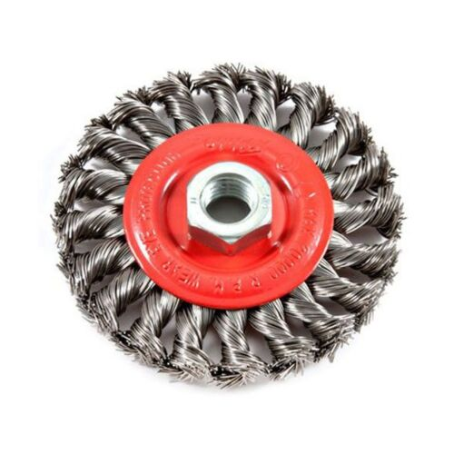 Twist Knot with 5//8-Inch-11 Threaded Arbor Forney 72759 Wire Wheel Brush 4-...