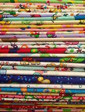 10 Fat Quarters Bundle CHILDREN GIRLS Polycotton Fabric Offcuts Scraps Remnants