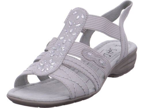 Jana Damen Da.-Sandalette Sandale Sandalette grau