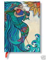 Paperblanks Laurel Burch Lined Writing Journal Ocean Song Mermaid Mini 3x5