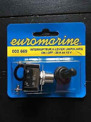 plaque ON OFF Interrupteur étanche  20A 12 V ON OFF  Cabochon